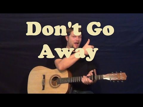 Don\'t Go Away (Oasis) Easy Strum Guitar Chords How to Play Tutorial ...