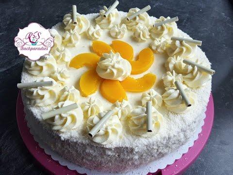 Pfirsich Mascarpone Torte / Seftalili Kaymakli Yaspasta