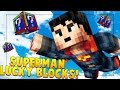 SUPERMAN SKY ISLANDS PVP LUCKY BLOCK CHALLENGE! Minecraft - Lucky Block Mod