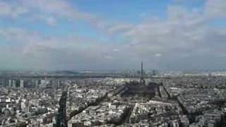 View over Paris from Montparnasse Building 360°