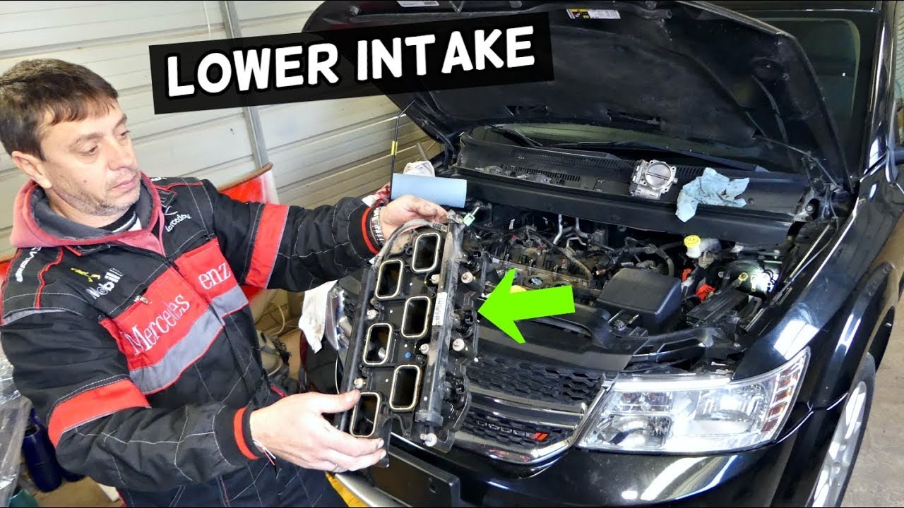 Dodge Journey Lower Intake Manifold Removal Replacement 3 6 V6