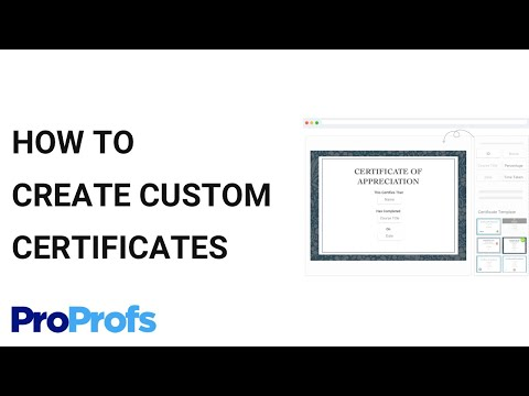 How To Create Custom Certificates With Your Own Logo And Branding