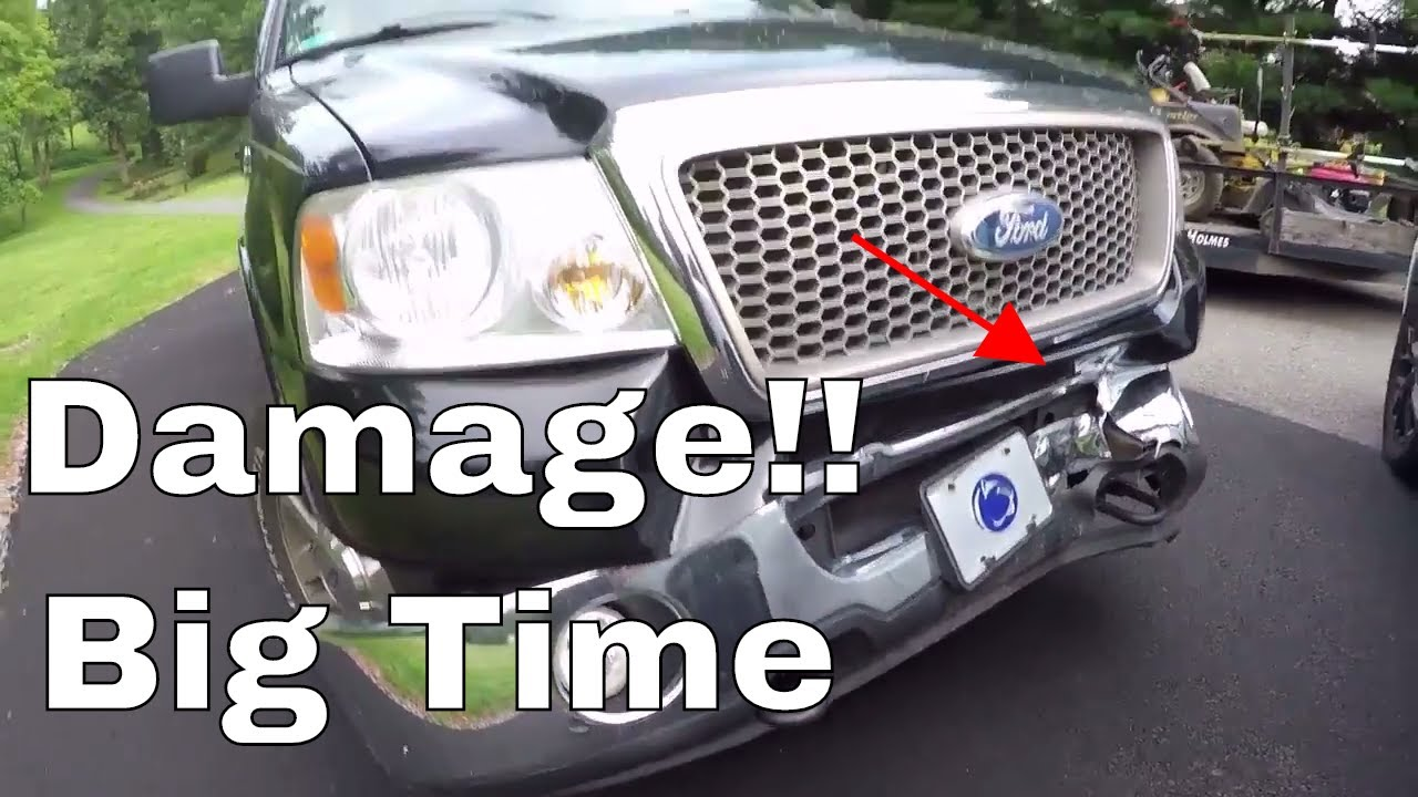2007 ford f 150 front bumper replacement youtube