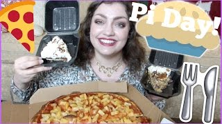 MUKBANG (Eating Show) | Pi Day Special!! Pizza & Pie