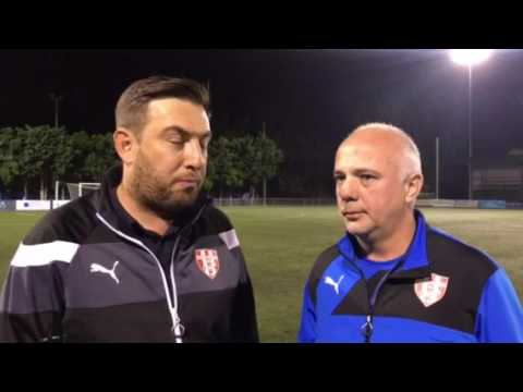 Post match interview with Nick Tolios after Bulleen Lions v Kingston City FC game