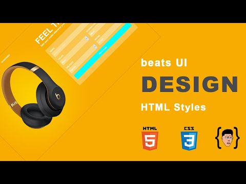 Beats UI Design Mini Series HTML And CSS - HTML Styles