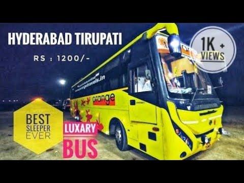 Orange Travels Grand Bus | HYDERABAD 🔄 TIRUPATHI | Travel Review | Bus Vlog #orangetravels #busvlog