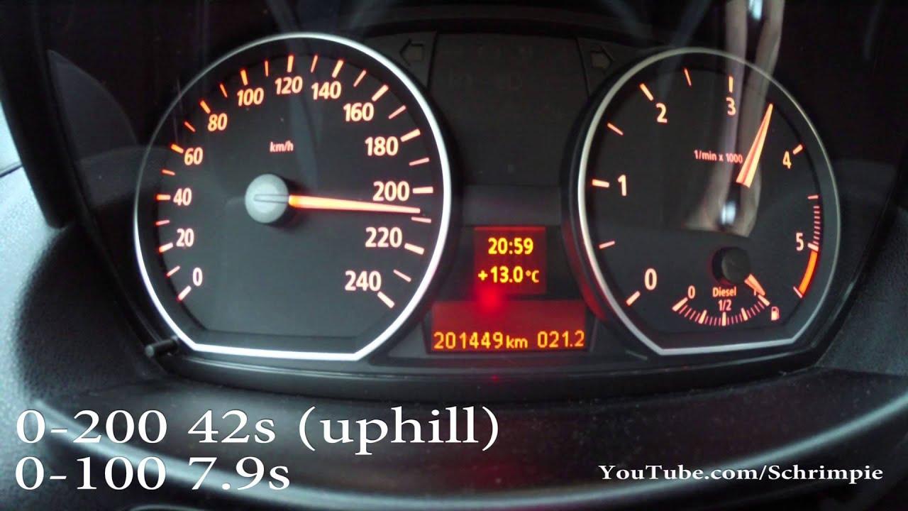 BMW 120D 0 100 km h & 0 200 acceleration 0 60 mp h & 0 120 mph