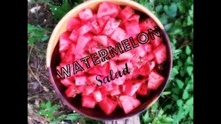 Refreshing Mint Watermelon Summer Salad: How To Cube A Watermelon