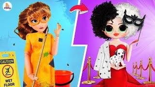 Cruella de Disney Princess / 12 ideas para muñecas Lol Surprise de bricolaje