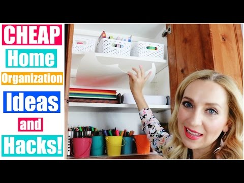 Cheap Home Organization Ideas & Hacks for Kids! | Arts & Crafts Supplies