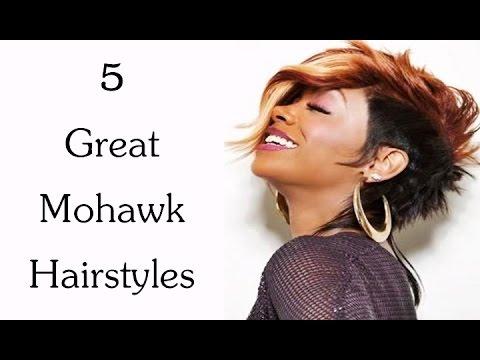 fancy bun hairstyles : Great Mohawk Hairstyles for African American Women - YouTube