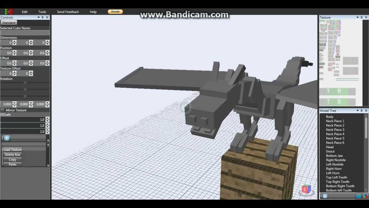 Techne Minecraft Dragon Model Youtube