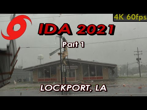Chasing Hurricane IDA 2021 (Part 1) • Destruction in Lockport [4K]