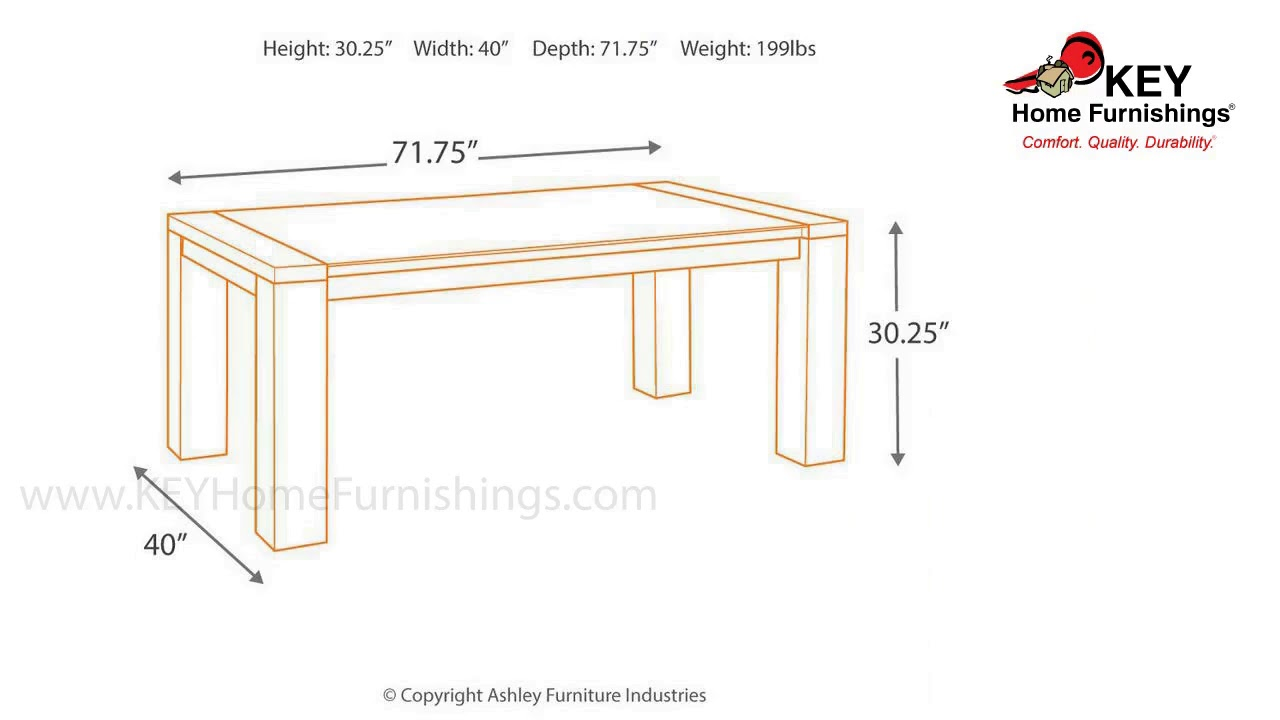 Ashley Chansey Dining Room Table D667 25 Key Home Youtube