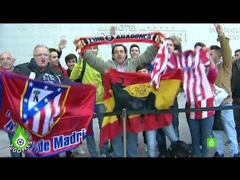 Jugones - La aficion del Atlético de Madrid, ilusionada ante el Barça - 동영상
