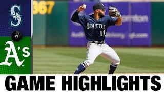 Mariners vs. Athletics Game Highlights (8/24/21)