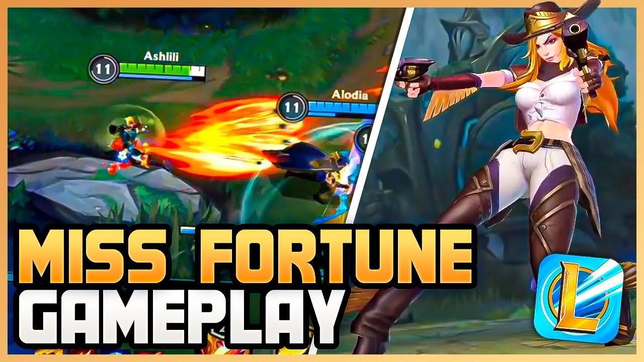MISS FORTUNE Alpha Gameplay - League of Legends: Wild Rift