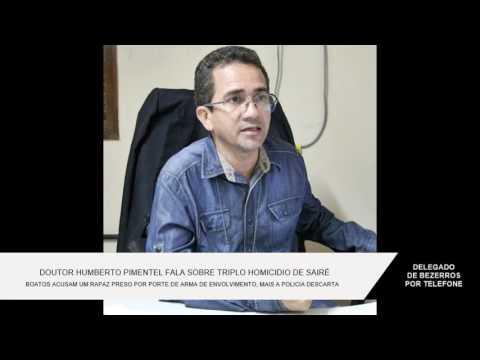POLÍCIA DESCARTA ENVOLVIMENTO DE IDELBRANDO PONTES EM TRIPLO HOMICÍDIO