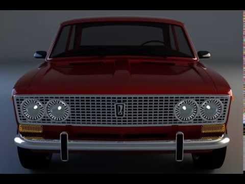 VAZ 2103 coupe animation