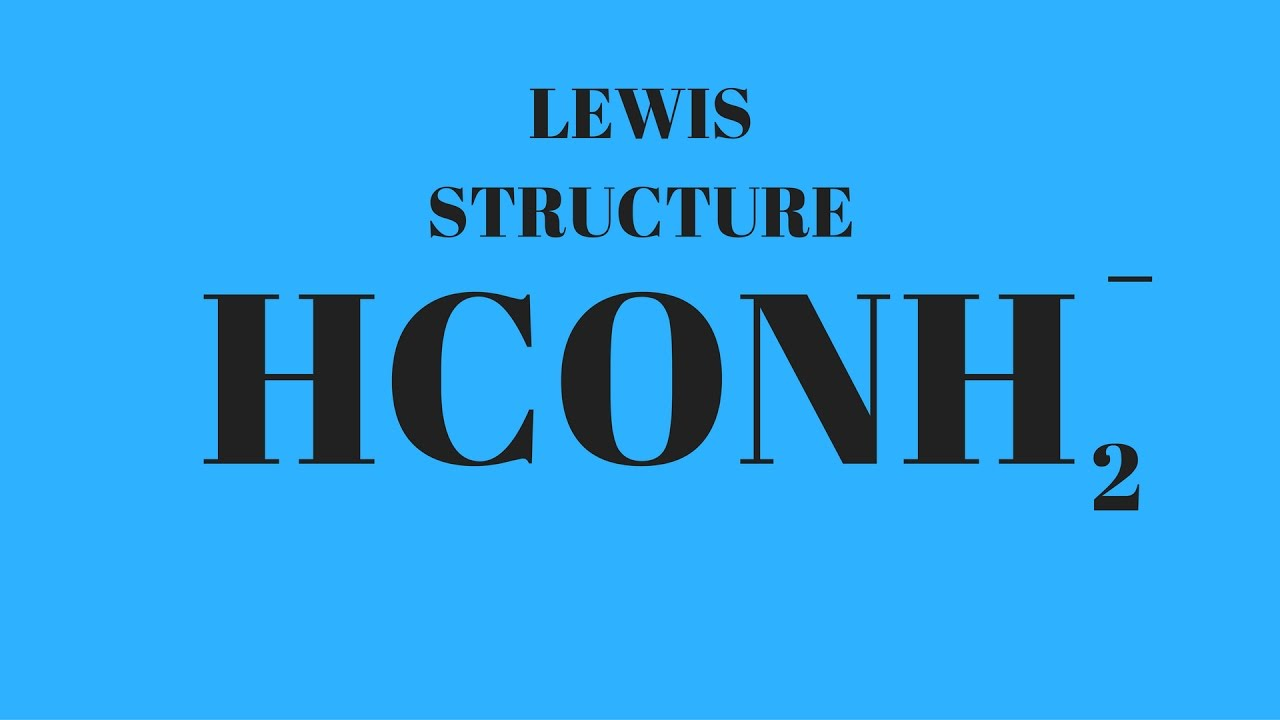 HCONH2 Lewis Structure - YouTubeXeo3 Lewis Structure