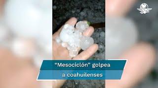 Una granizada se registró anoche en al menos una docena colonias de la ciudad de Nueva Rosita, municipio de San Juan de Sabinas.