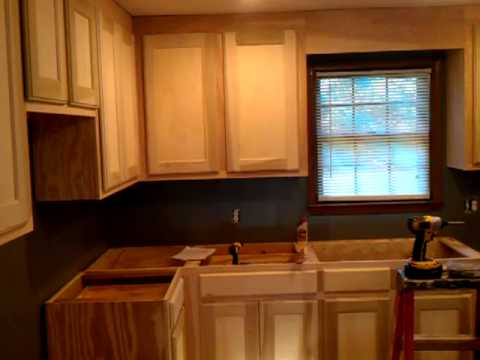 Homemade cabinets 7  YouTube