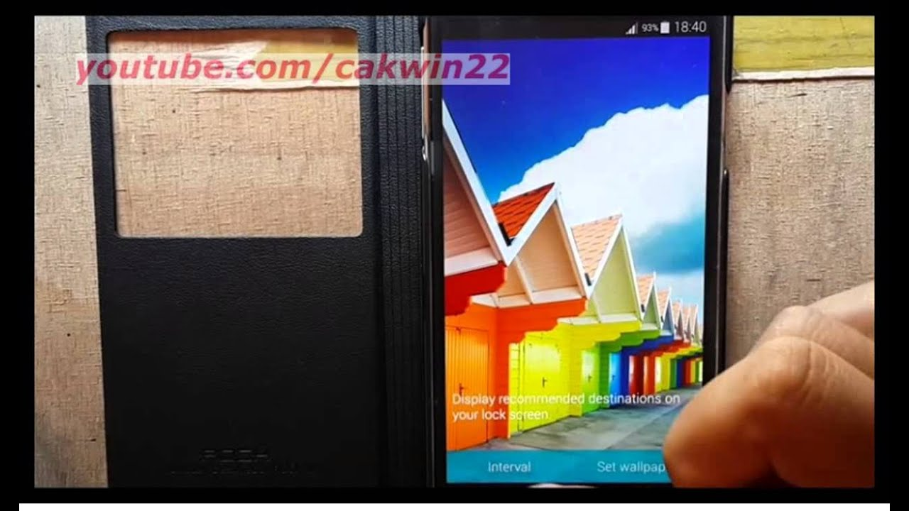 Samsung Galaxy S5 How To Change Lock Screen Wallpaper Android