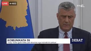 Hashim Thaci i kerkon falje Gani Gecit per komunikaten nr. 59 te UCK&#39se
