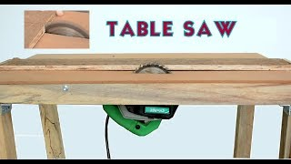 How to Make a Powerful Table Saw at Home