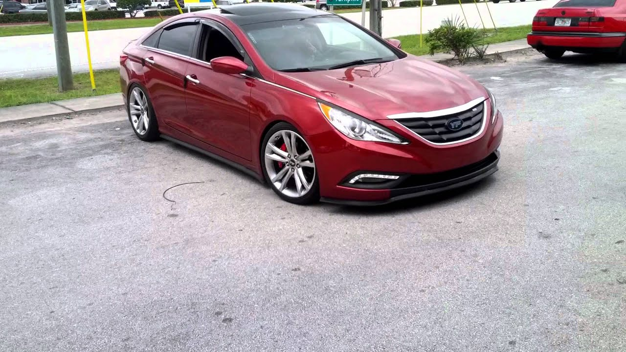 Yf Sonata On D2racing Coilovers Youtube