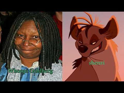 The Lion King Characters Of Voices Actors And Names