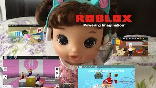 BABY ALIVE Meghan plays Roblox! Baby alive videos!