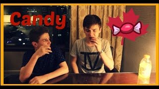 Trying Canadian Candy W/ Bruhitszach | Nick Bean