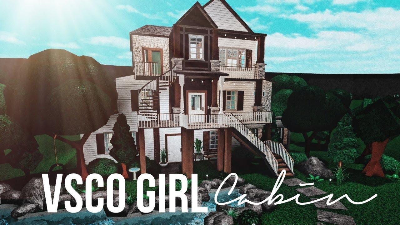 Bloxburg Vsco Girl Cabin 130k Youtube
