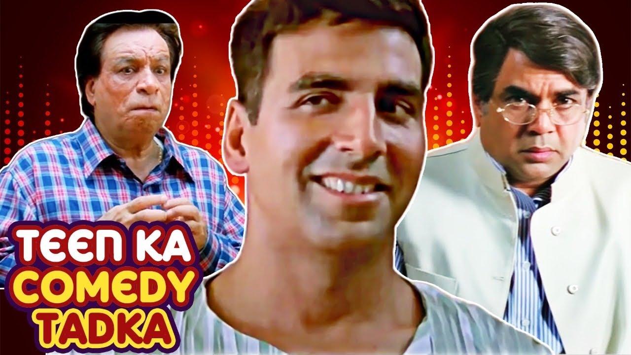Download Best Comedy Scenes | Teen Ka Comedy |Mujhse Shaadi Karogi - Bhagam Bhag -Welcome -Deewane Huye Pagal