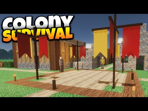 Colony Survival -  Ep. 1 - Starting a Huge City! - Colony Survival Mutliplayer Gameplay