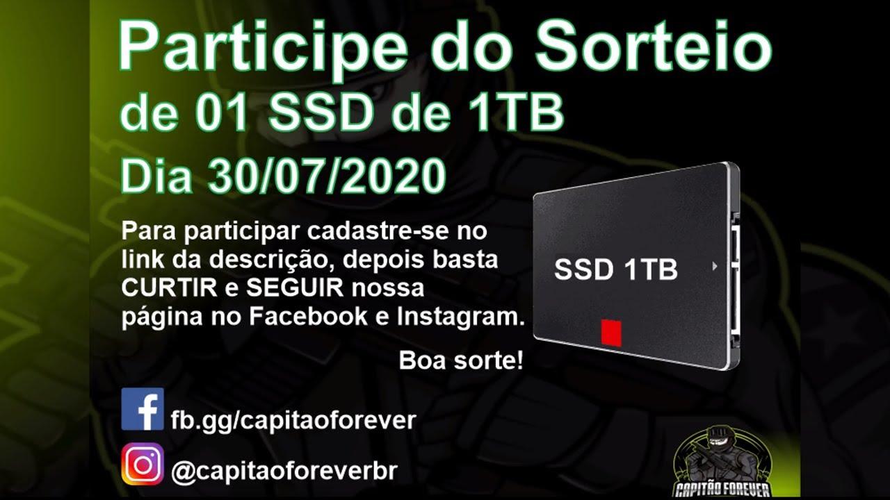 SORTEIO DE UM SSD DE 1 TERABYTE. PARTICIPE JÁ!!!!