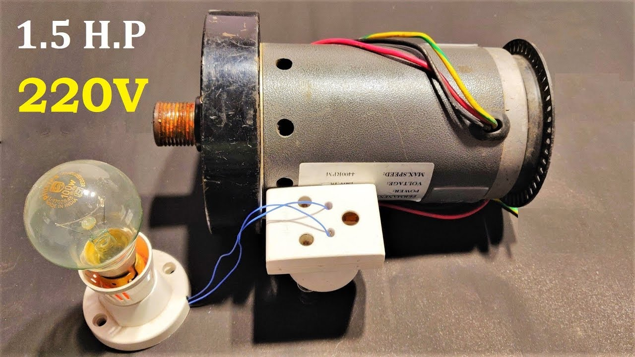 1 5 Hp Dc Motor To 220v Electric Generator At Low Rpm