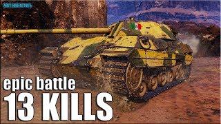 ЖЁЛТЫЙ  СПЕЦНАЗ 13 ФРАГОВ 🌟 World of Tanks P. 44 Pantera лучший бой
