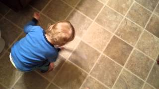 Toddler Trips Over Training Toilet