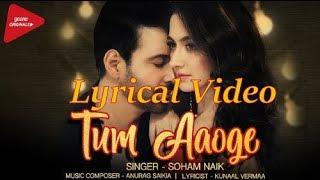 Tum Aaoge Lyrical |Soham Naik latest song|Amir Ali,Sanjeeda|New romantic song 2018