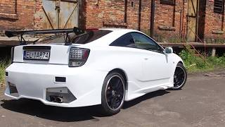 Toyota Celica Car Wrapping - Gloss White Gold Sparkle