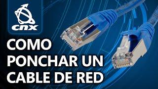Como ponchar un cable de red