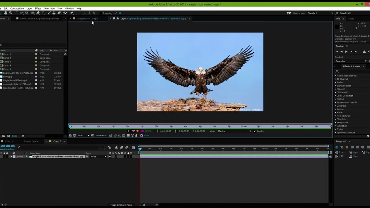 How to add motion to 2D image(eagle) - AFTER EFFECTS Tutorials - YouTube
