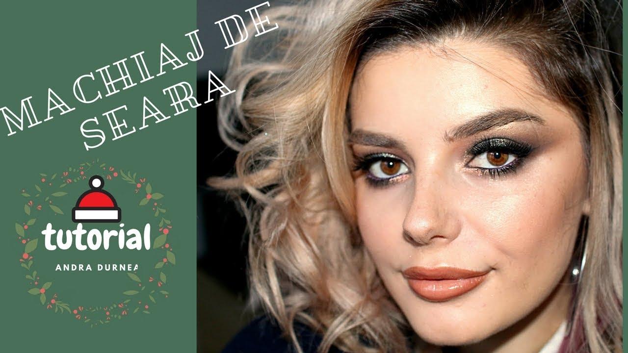 Machiaj De Seara Pe Eyeliner Gel Revelion Youtube