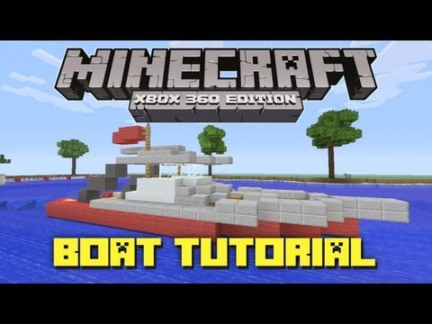 Minecraft Xbox 360: How to Make a Fishing Boat! (Gameplay Tutorial)