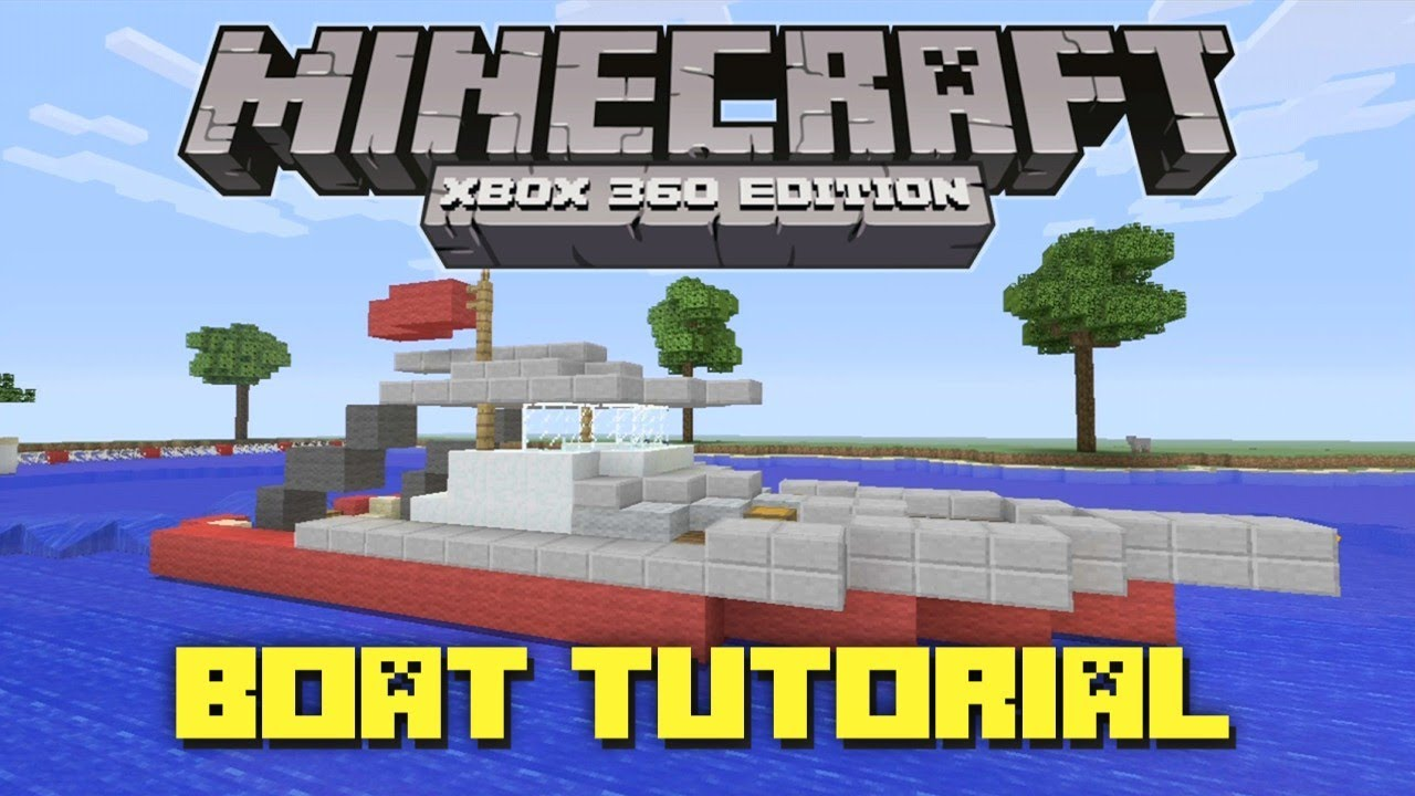 Minecraft Xbox 360: How to Make a Fishing Boat! (Gameplay Tutorial ...