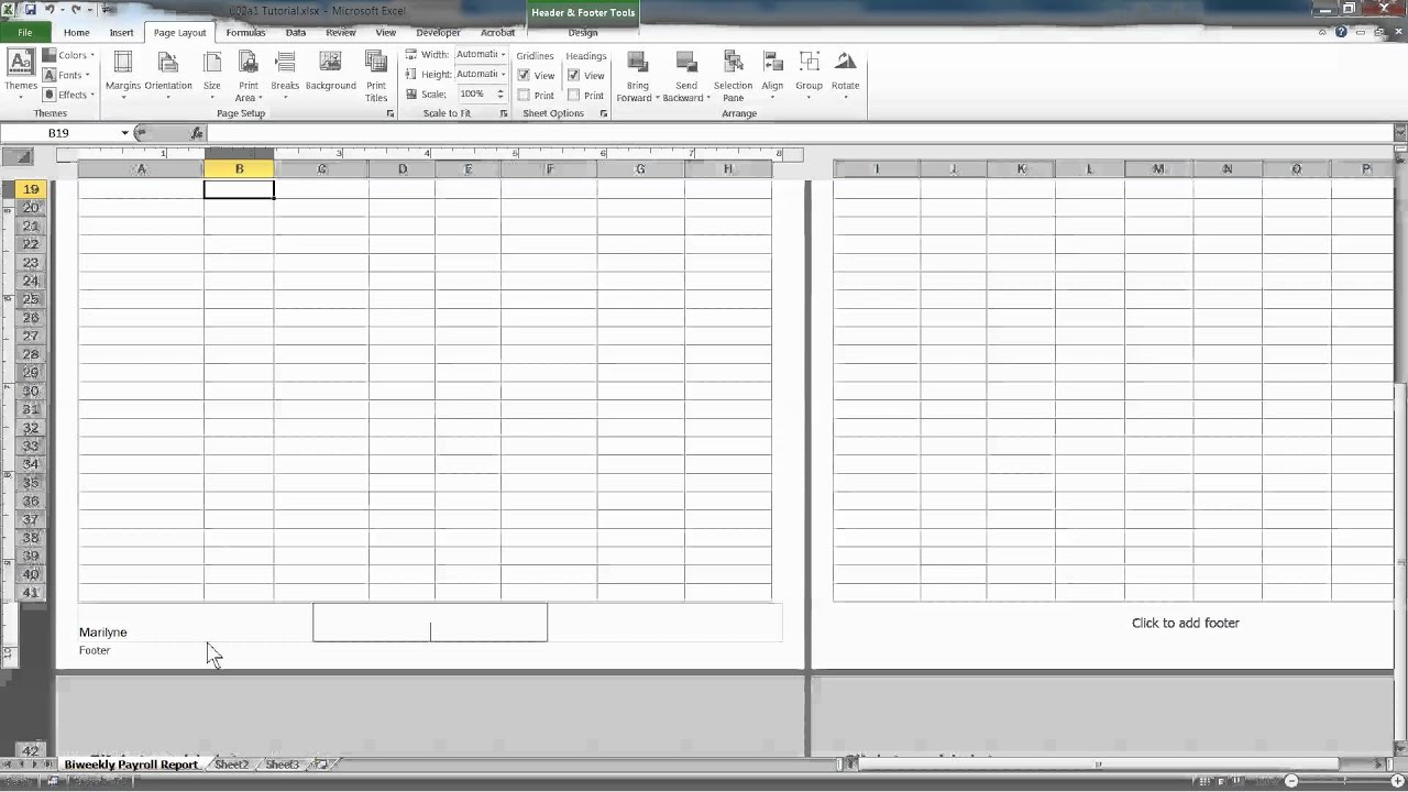 Excel Properties Header And Footer Sheet Tabs And