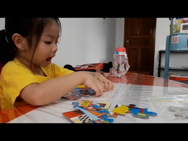 Puzzle building activity for children with special needs...